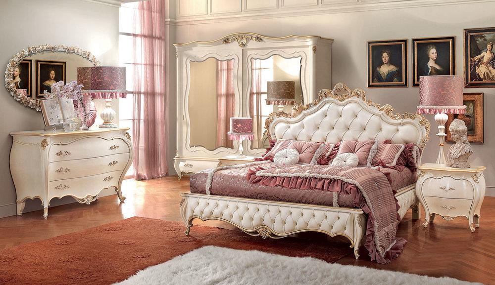 4_Спальня кровать кожаная Италия Romantica Signorini Coco il Tempo Киев.jpg