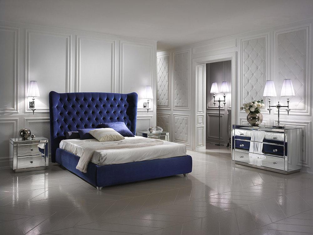 2_Кровать с высоким изголовьем арт деко Италия DV Home il Tempo Киев.jpg