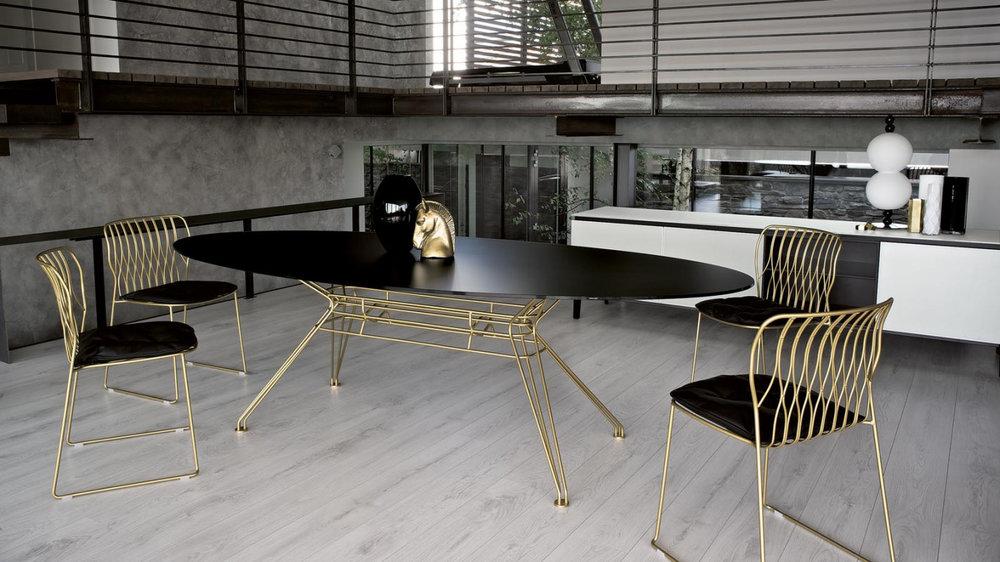 1_Стол на кухню на металлических ножках Sander Bontempi il Tempo Киев.jpg