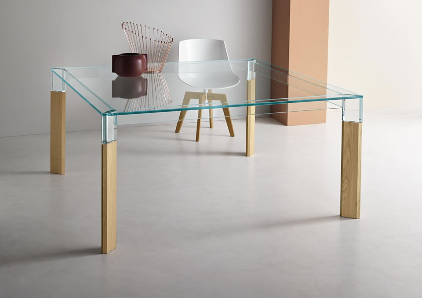 12_Стол стеклянный квадратный на кухню Италия Perse Rovere Tonelli il Tempo Киев.jpg