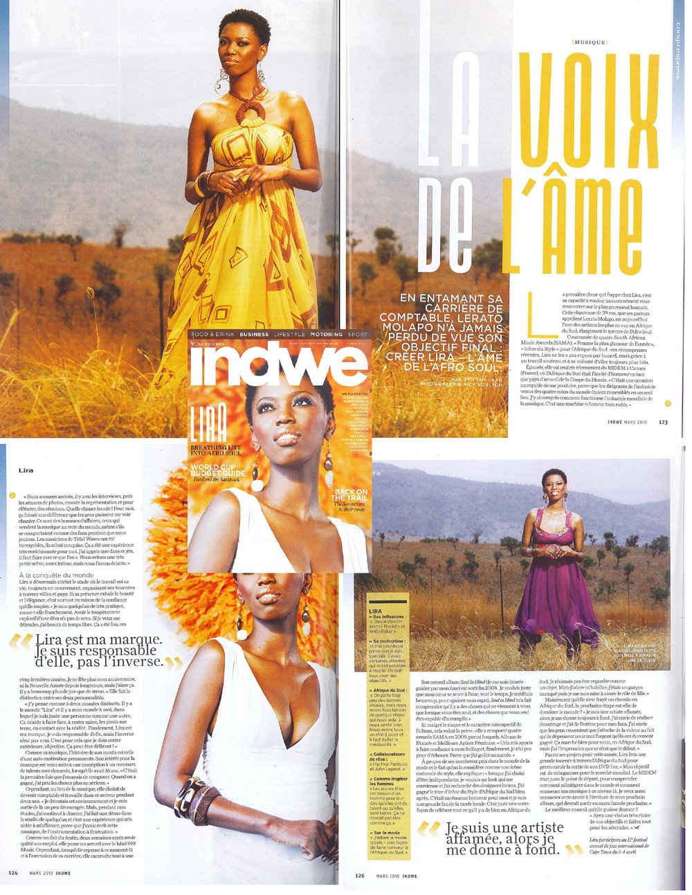 SOUTH AFRICAN AIRLINES INDWE MAGAZINE