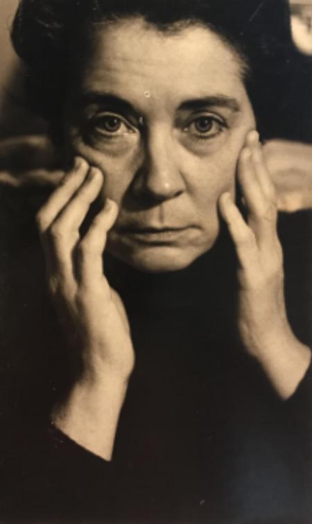 """Renee Folzenlogen, """"Portrait of Woman at Midcentury"""""""