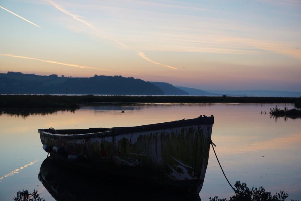 Boat on the Taf Estury
