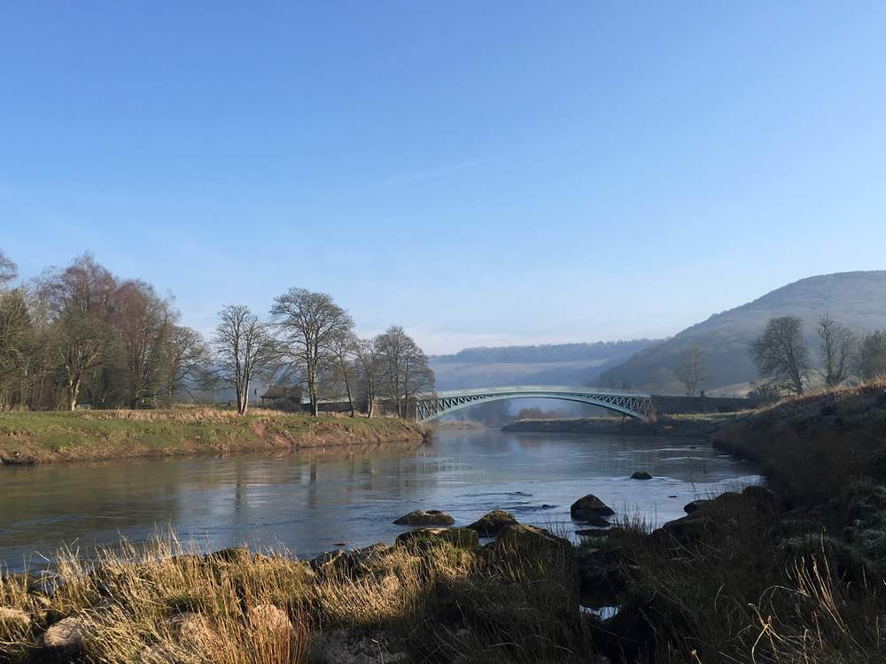 Bigsweir Bridge and the River Wye