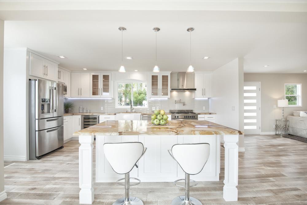 kitchen granite counter island