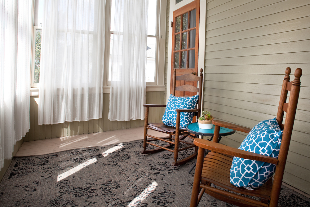 Printmakers Inn Bed and Breakfast in Savannah High Cotton Suite Porch.jpg