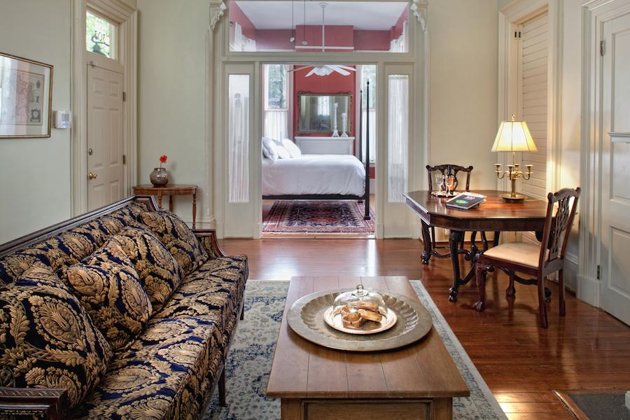 Top Bed and Breakfast in Savannah, GA, Printmaker's Inn Button Living Room.jpg