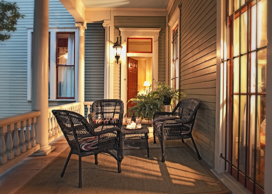 Top Bed and Breakfast in Savannah, GA, Printmakers Inn Button Porch.jpg