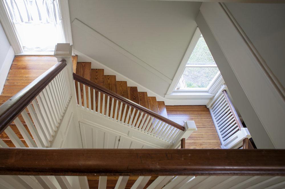 Top Bed and Breakfast Savannah Nichols Suite Down view of stairwell.jpg
