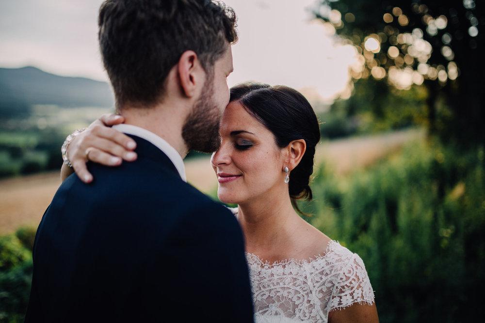 Hochzeitsporträt von Antonia und Andreas am Hohen Bogen