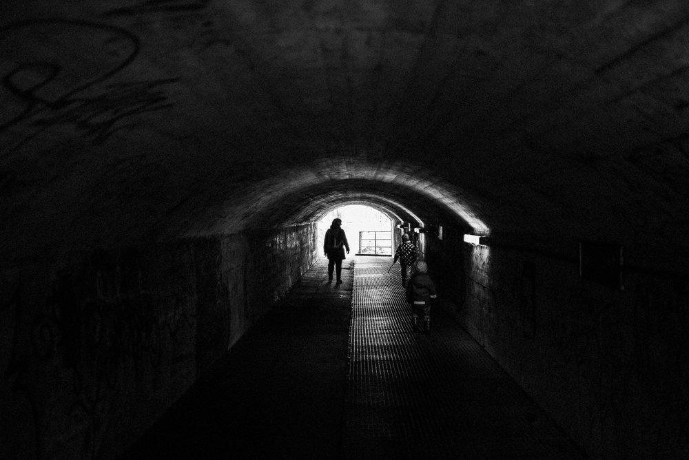 Gang durch einen Tunnel nahe Olching