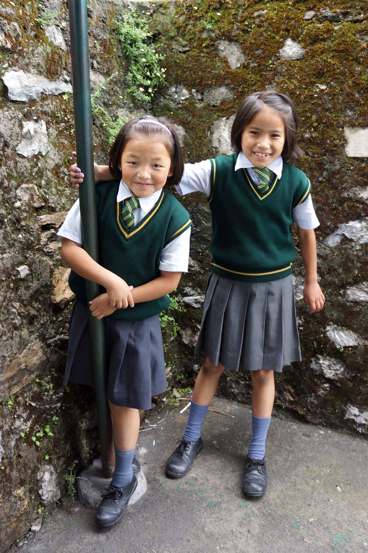 Two Tibetan schoolgirls