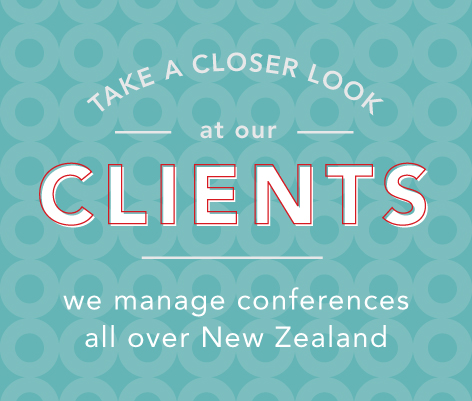 Manage conferences all over New Zealand - See our clients