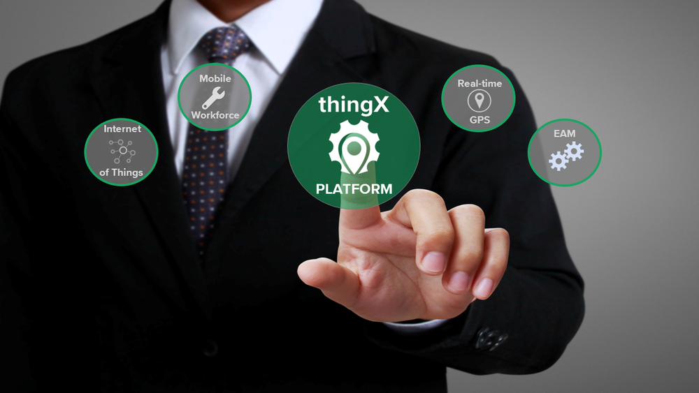 Connected Asset Intelligence   The ThingX ™  Platform is the first IoT technology that connects real-time data to your devices, assets and people   LEARN MORE