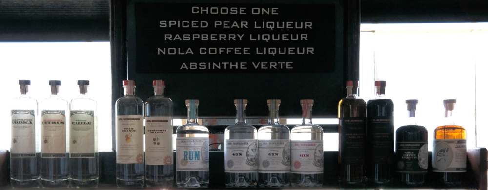 from sharp, flavorful gins, to full bodied, sweet liqueurs choosing your tasting is the hardest part, and don't forget about the complex absinthe verte whose recipe has been refined for nearly a decade!