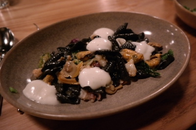 The squid ink pasta... to die for.