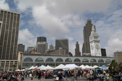 The Ferry Plaza Farmer's Market, a must for foodies.