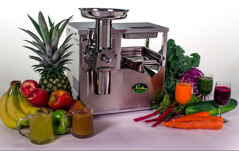 Norwalk Juicer the best cold pressed juicer on the market-image via norwalk.com