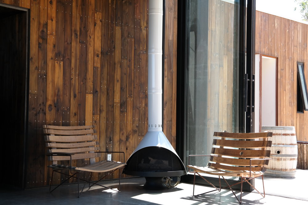 sip on some wine straight from the vines fireside at Encuentros