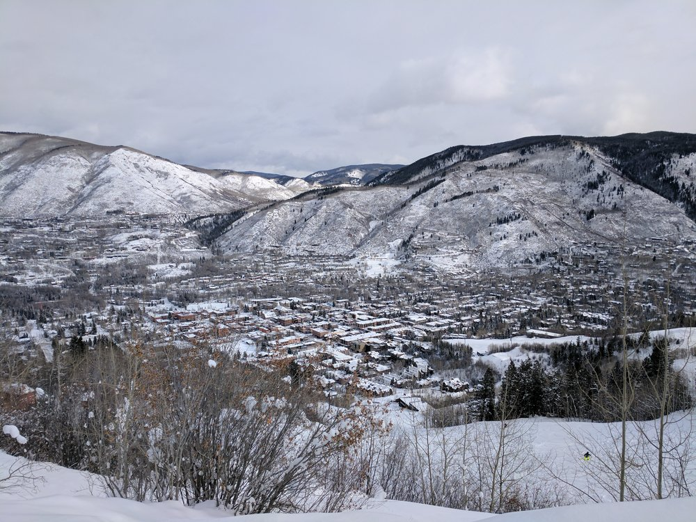 The Town of Aspen from the slopes.