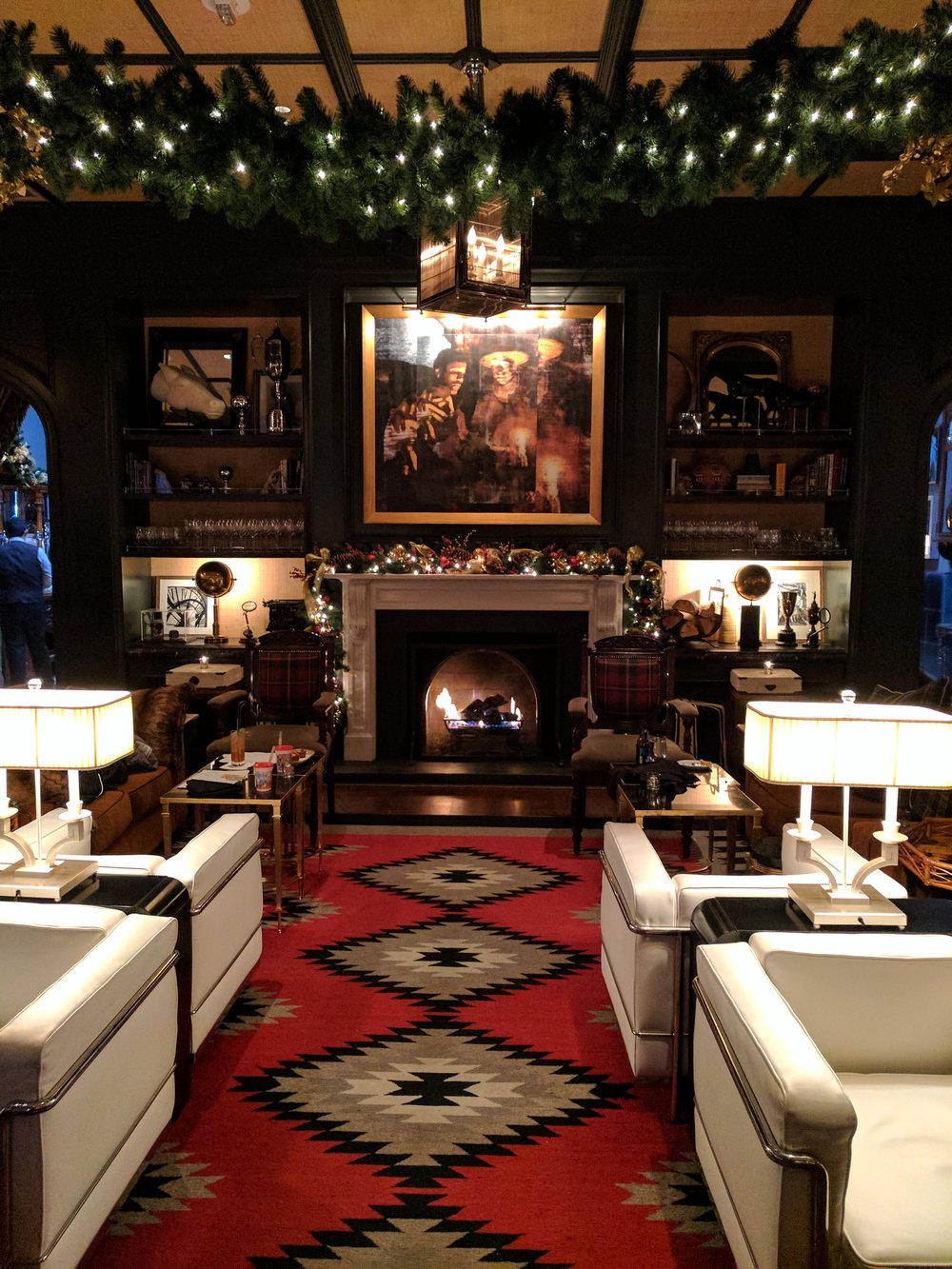 Get cozy and stay a while in Aspen's Hotel Jerome Living Room Lounge