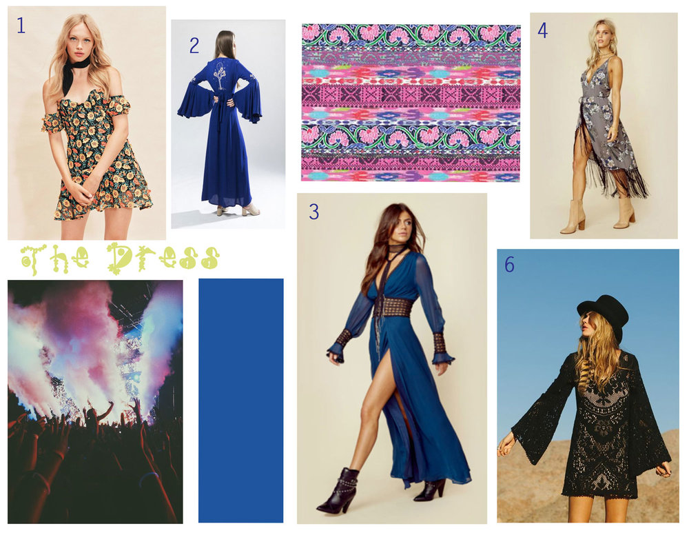 1)  Amelia Strapless Mini Dress-  For Love and Lemons, 2)  J  oshua Night Maxi Dress-  Desert Sun, 3)  Celine Maxi Dress  - For Love and Lemons, 4)  Zinnia Wrap Dress - Cleobella, 5)  Fleetwood Mini Dress  - Spell and Gypsy Collective