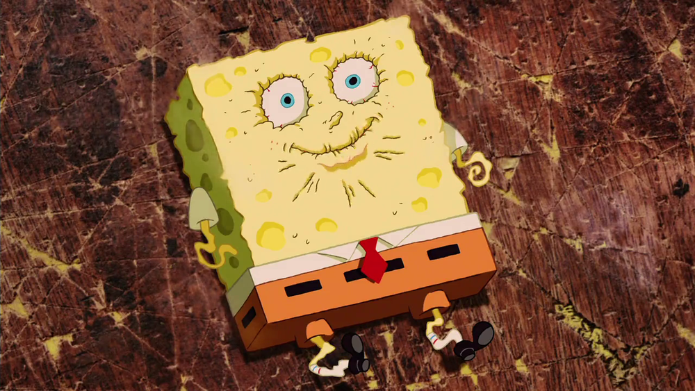 Everyone who moves from high humidity to Colorado=Spongebob here.