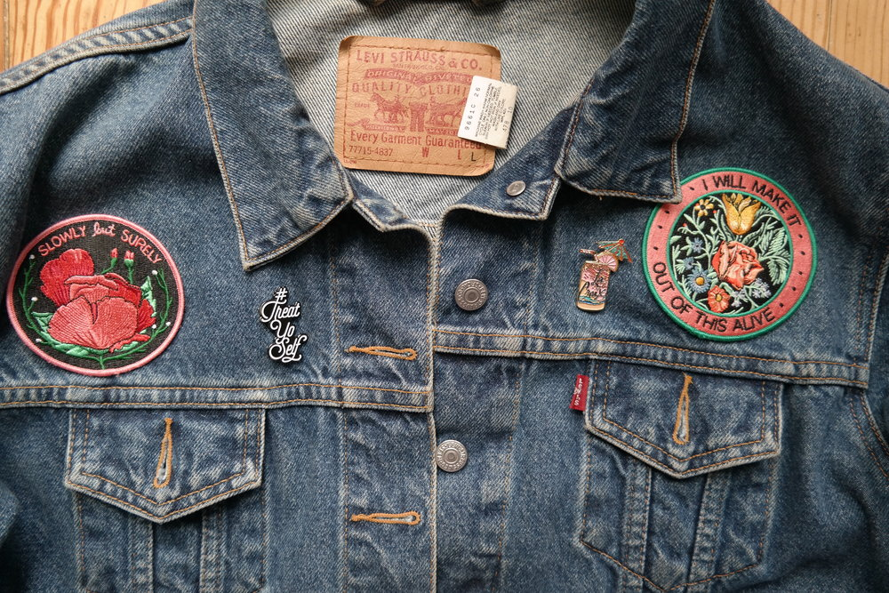 My OG Levis Vintage Find with pins and Patches
