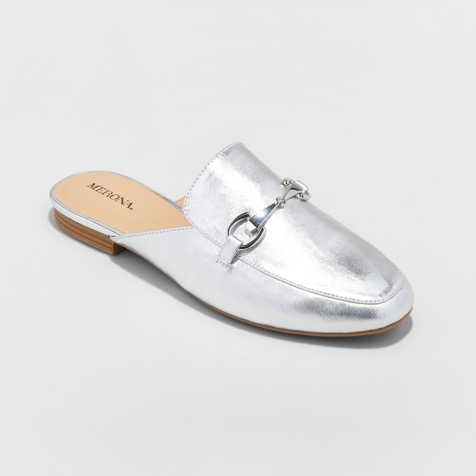 Metallic Backless Loafer