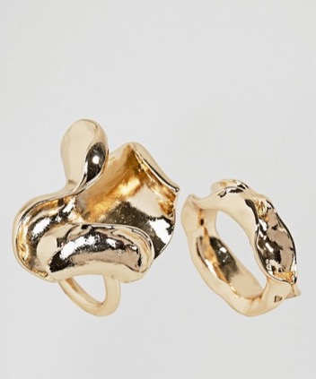Two Fold Gold Ring