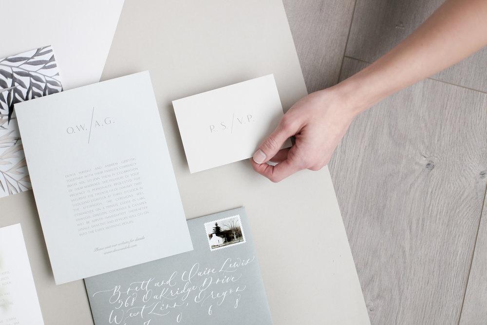 Semi-Custom Wedding Invitation Suite by Carta Plena