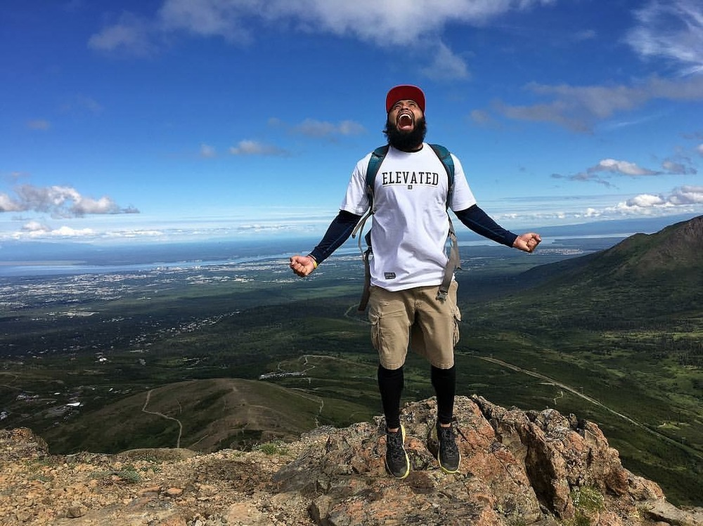 Nate flexing his epic #NatePose in Alaska.