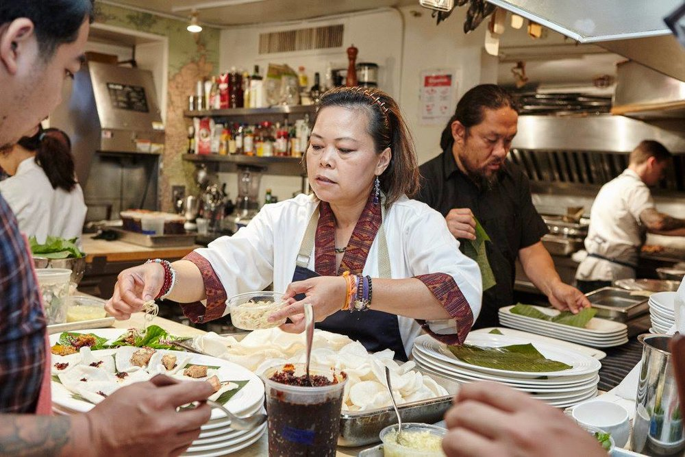 Chef Seng at  From Laos with Love  for  James Beard Foundation  (Photo by Martin Ramin)