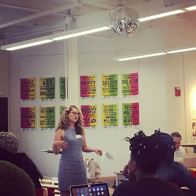 Thanks for talking to us about how to better market ourselves, Marissa Dobson! Day 2 of @baltimorecreates #founderfellowship Deep Dive Week is in full swing!