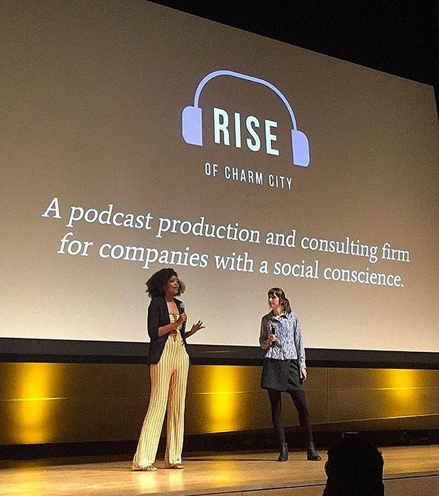 Representing @riseofcharmcity's new(ish) audio production arm at @baltimorecreates' Demo Day (or night, as it were) at @marylandinstitutecollegeofart's Falvey Hall. Our investor pitch — and the last day of our 8-week creative entrepreneur's accelerator course — is this Thursday.Congratulations to all the founders who presented tonight. You inspire us and we're grateful to have gone through this (hyper-intensive!) journey with you.