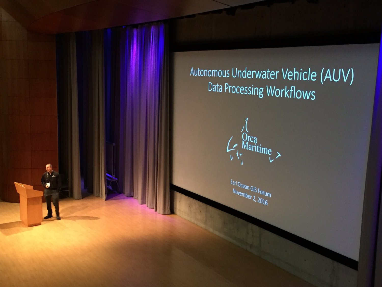 Orca Maritime Discusses AUV Data Processing at 2016 Esri