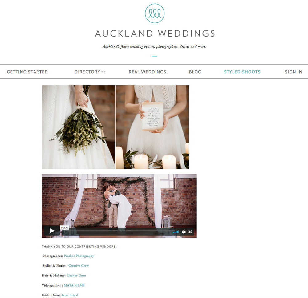 Read full article here  https://www.aucklandweddings.co.nz/urban-romance-styled-shoot