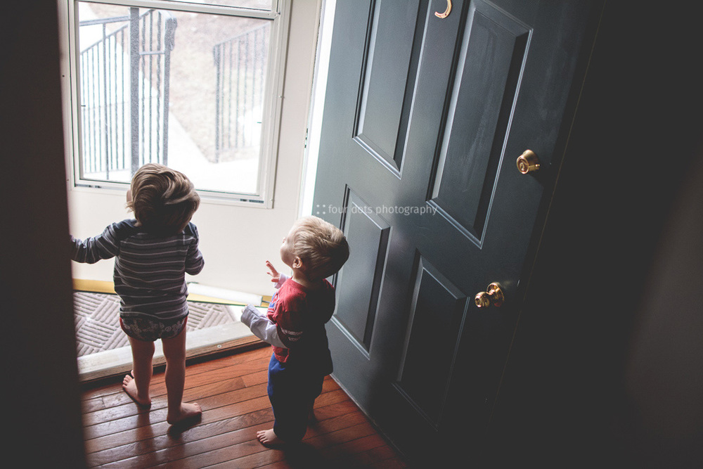 and waiting by the door when daddy gets home so you can hug him as soon as possible <3