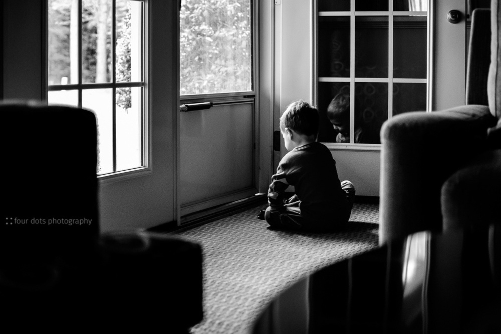 playing in the quiet morning light on a short weekend trip to visit my grandparents.