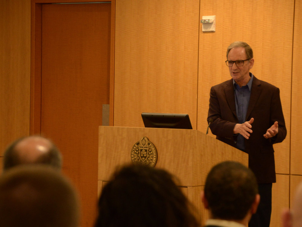 Esteemed Cryptologist Encourages Ethical Thinking in the Nuclear Age - Martin Hellman, at 2015 winner of the Turing Award, made a strident case for ethics to computer science students during a visit to Fordham's Rose Hill campus.