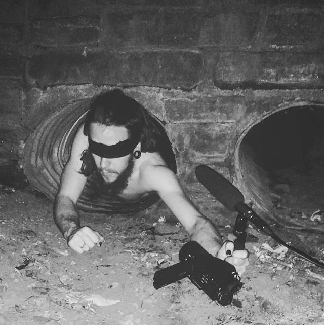 Shooting more weird ass video performance art.. . . . #videoart #performanceart #darkart #fineart #behindthescenes #blackandwhitephotography #art #creepy #contemporaryartist #artist #artistsoninstagram #performancevideo #montroyalpark #videoproduction #blindfold #tunnel #weird #modernart #strangeart