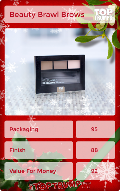 Day seven of the #bxbeautybrawl is BROWS, and I'm reviewing the Maybelline Brow Drama Pro Palette! Four bloggers, ten products each, ten days: click through to see the Bloggers Christmas Beauty Brawl!