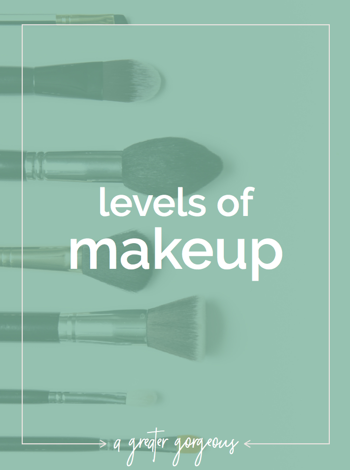 We all have different looks we wear on different days depending on what we're doing and what we feel like doing. What are your levels of makeup?