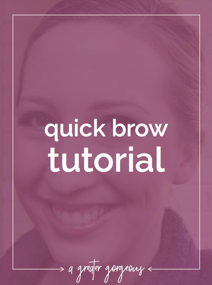 Quick brow tutorial!