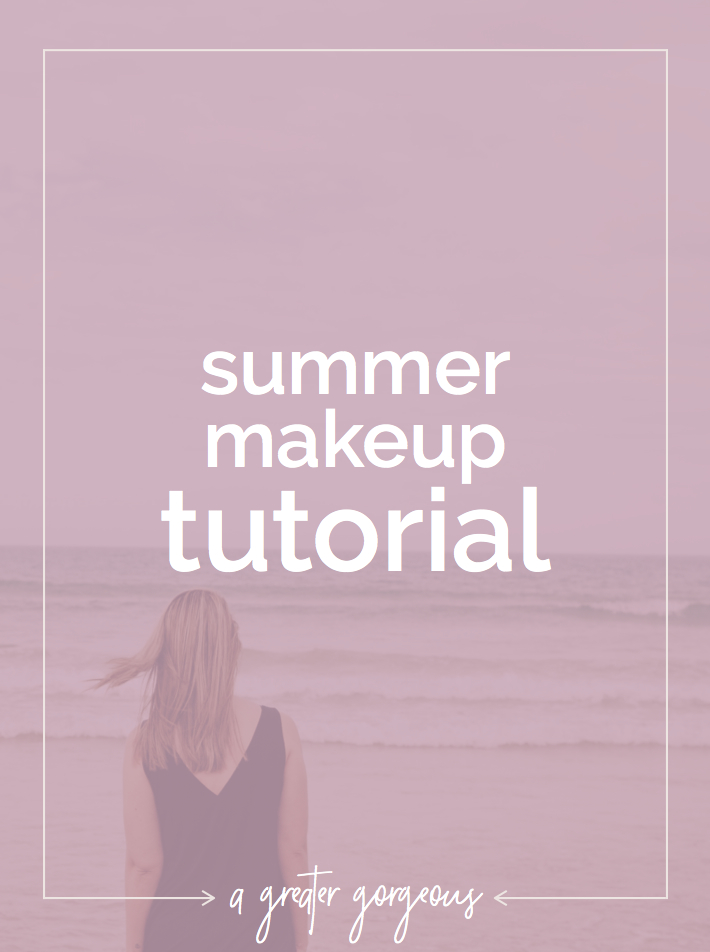 Use this tutorial for a simple summer makeup look!