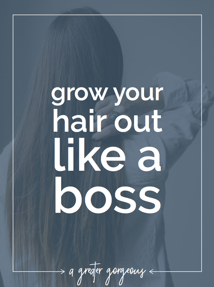 The hair growth process is a nightmare, and sometimes you have to talk yourself off a ledge. Click through for tips on growing your hair out like a boss + 10 ways to make your hair grow faster!
