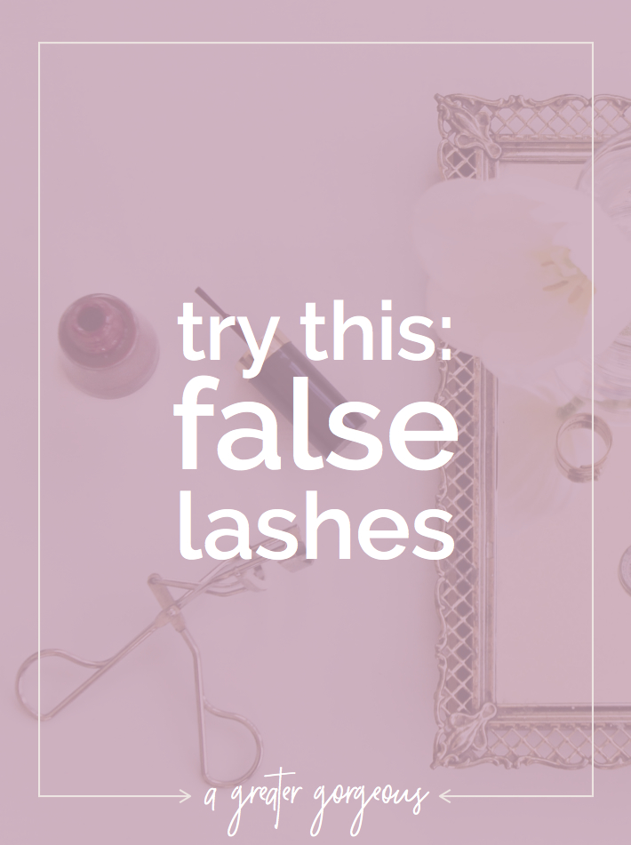 Applying false lashes can be intimidating, but they don't have to be. Give them a try! Click through for a step-by-step.