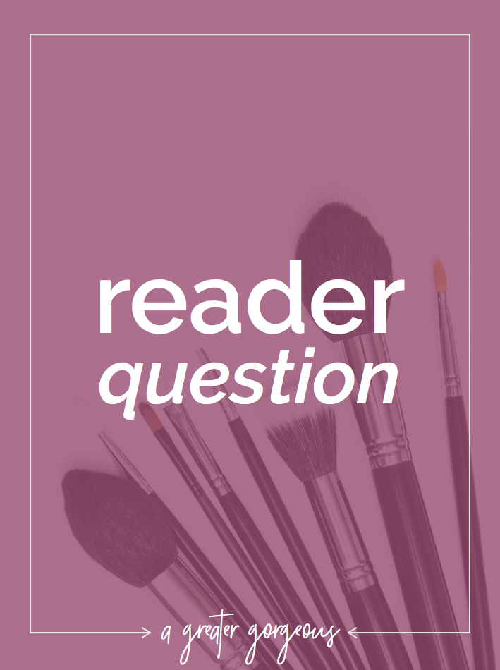 A reader asks a question about quick makeup for busy ladies & looking professional in the workplace.