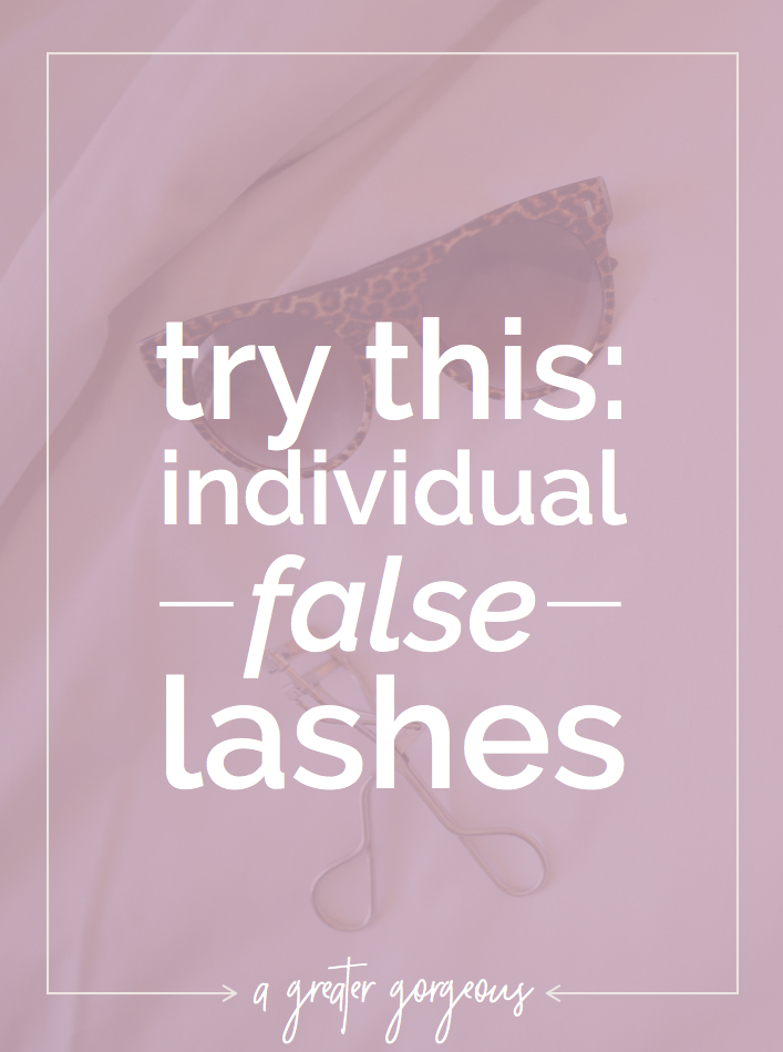 Individual false lashes can give you a gorgeous wide-eyed look without looking like you have fake lashes on. Give them a try! [video tutorial]