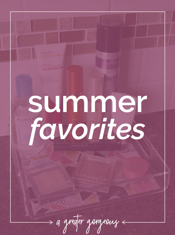 Streamlining your beauty routine for the summer? Check out some of these summer favorites from A Greater Gorgeous — great products to keep your beauty routine simple & easy for the summer!